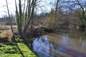 Leisure plot bordering the river Charente