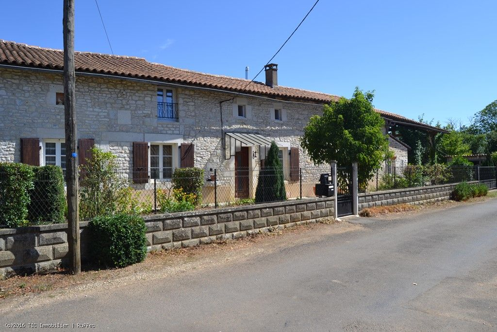 Pretty Stone House Close To Ruffec In A Lovely Country Setting