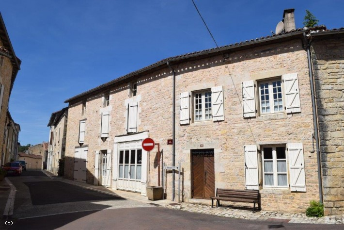 Village House with Garden and Garage in the Heart of Nanteuil en Vallée